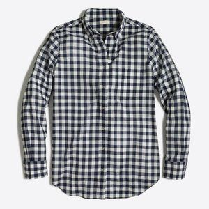 J. Crew Boy Fit Black & White Gingham Shirt  A3-26